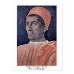 Retrato de Carlo De 'Medici. Por Andrea Mantegna Postales