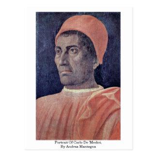 Retrato de Carlo De Medici Por Andrea Mantegna Postales