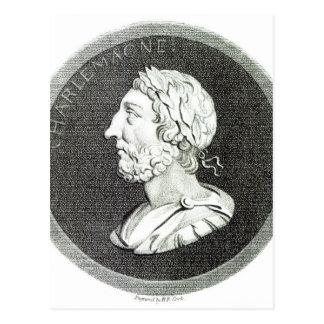 Retrato de Carlomagno Tarjeta Postal