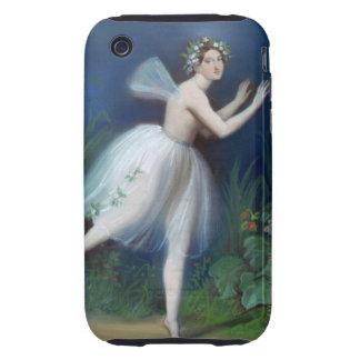 """""""Retrato de Carlotta Grisi en Giselle"""" cerca Carcasa Though Para iPhone 3"""