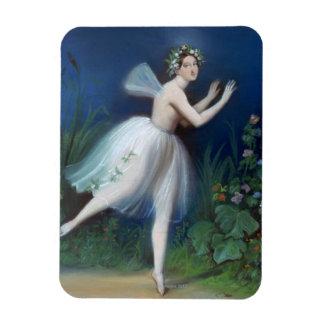 """""""Retrato de Carlotta Grisi en Giselle"""" cerca Imanes Rectangulares"""