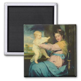 Retrato de Caroline, duquesa de Marlborough con Imán Cuadrado