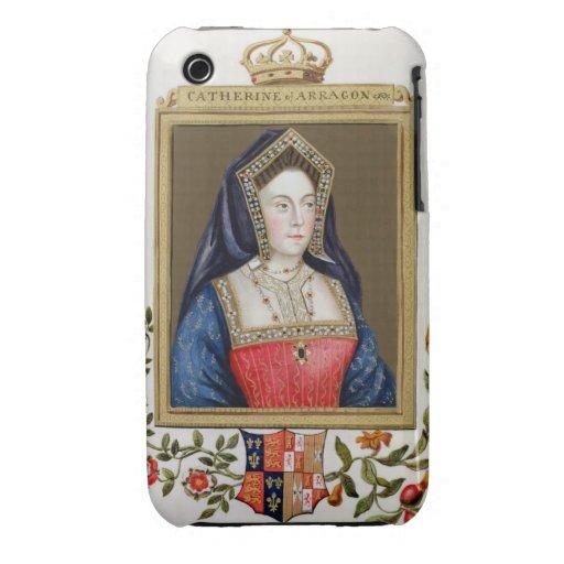 Retrato de Catherine de Aragón (1485-1536) 1ros Qu Case-Mate iPhone 3 Funda