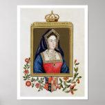 Retrato de Catherine de Aragón (1485-1536) 1ros Qu Poster