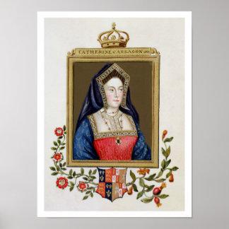 Retrato de Catherine de Aragón (1485-1536) 1ros Qu Póster