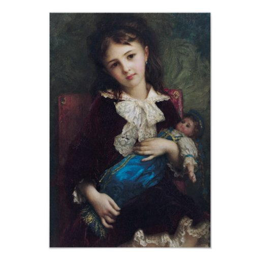 Retrato de Catherine du Bouchage, 1879 Póster