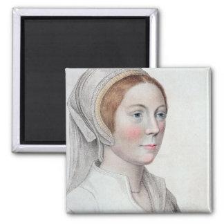 Retrato de Catherine Howard (1520-42) grabado cerc Imán Cuadrado
