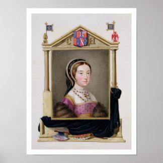 Retrato de Catherine Howard (c.1520-d.1542) 5to Q Póster
