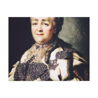 Retrato de Catherine II de Rusia 2 Impresión En Lona Estirada