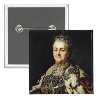 Retrato de Catherine II de Rusia 2 Pin Cuadrado