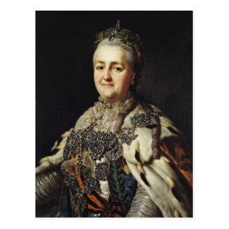 Retrato de Catherine II de Rusia 2 Postal