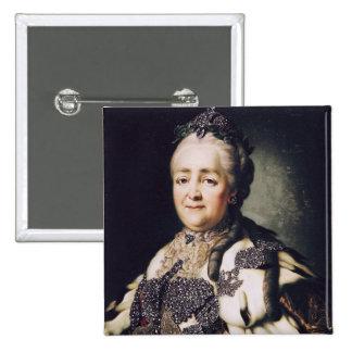 Retrato de Catherine II de Rusia Pin Cuadrado