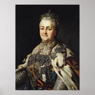 Retrato de Catherine II de Rusia Póster