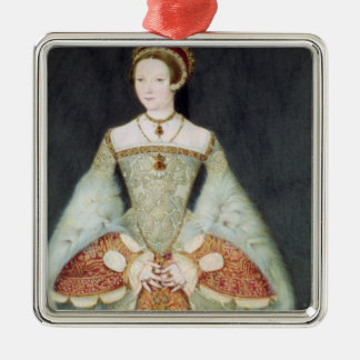 Retrato de Catherine Parr (1512-48), 1545 (color Adorno Navideño Cuadrado De Metal