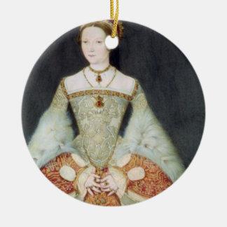 Retrato de Catherine Parr (1512-48), 1545 (color Adorno Navideño Redondo De Cerámica