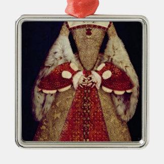 Retrato de Catherine Parr, 1545 Adorno Navideño Cuadrado De Metal