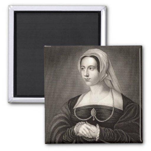 Retrato de Catherine Parr Imán De Nevera