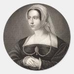 Retrato de Catherine Parr Pegatinas Redondas