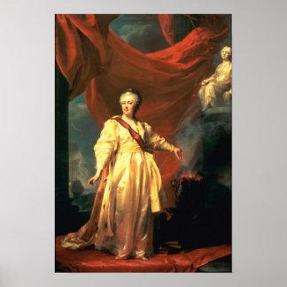 Retrato de Catherine The Great como legislador Póster