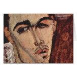Retrato de Celso Lagar - Amedeo Modigliani Tarjeta De Felicitación
