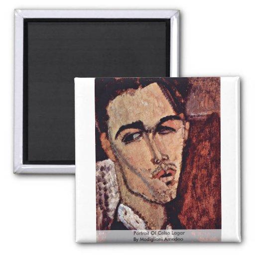 Retrato de Celso Lagar de Modigliani Amedeo Imanes Para Frigoríficos