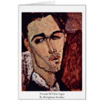 Retrato de Celso Lagar de Modigliani Amedeo Tarjeta