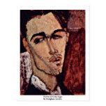 Retrato de Celso Lagar de Modigliani Amedeo Tarjetas Postales