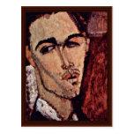 Retrato de Celso Lagar de Modigliani Amedeo Postales