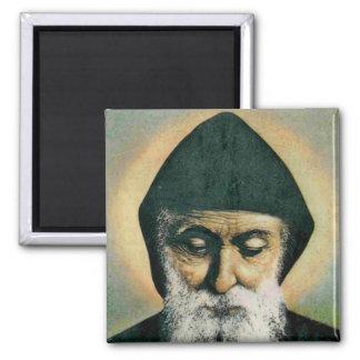 Retrato de Charbel del santo Imán Cuadrado