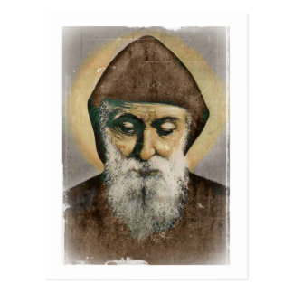 Retrato de Charbel del santo Postal