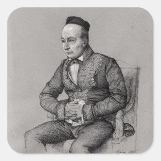 Retrato de Charles Agustín Sainte-Beuve 1856 Etiqueta