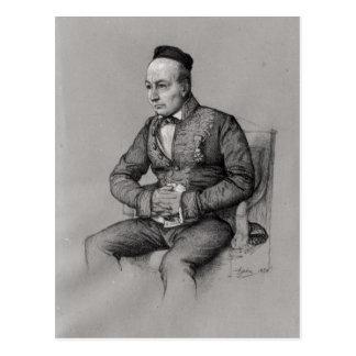 Retrato de Charles Agustín Sainte-Beuve 1856 Tarjeta Postal
