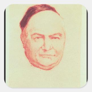 Retrato de Charles Agustín Sainte-Beuve Calcomania Cuadradas