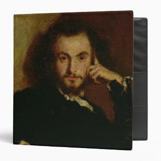 "Retrato de Charles Baudelaire 1844 Carpeta 1 1/2"""