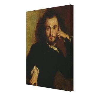 Retrato de Charles Baudelaire 1844 Impresión En Tela