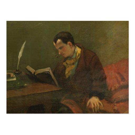 Retrato de Charles Baudelaire 1847 Postal