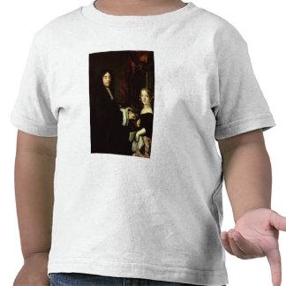 Retrato de Charles Couperin y la hija Camisetas