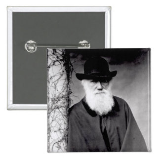 Retrato de Charles Darwin 1881 Pin Cuadrado