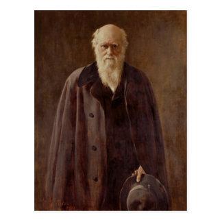 Retrato de Charles Darwin 1883 Postal