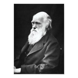 """Retrato de Charles Darwin Invitación 5"""" X 7"""""""
