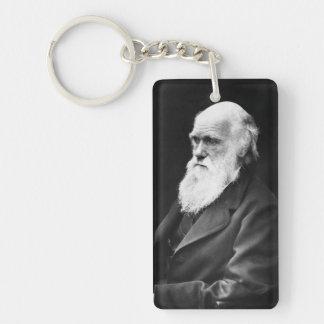 Retrato de Charles Darwin Llavero Rectangular Acrílico A Una Cara