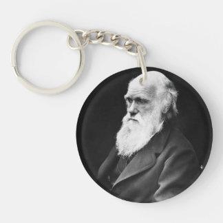 Retrato de Charles Darwin Llavero Redondo Acrílico A Una Cara