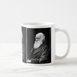 Retrato de Charles Darwin Tazas De Café