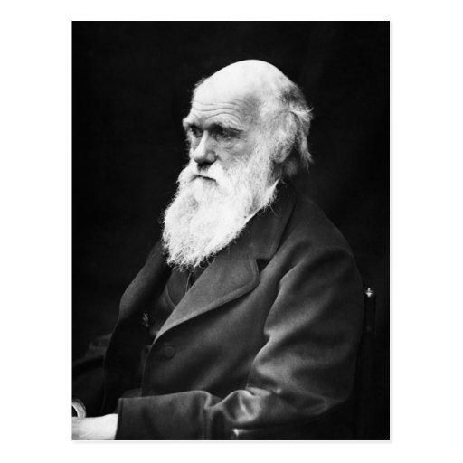 Retrato de Charles Darwin Postal