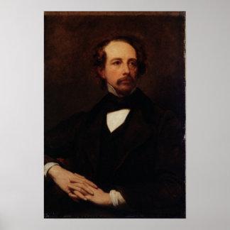 Retrato de Charles Dickens 1855 Póster