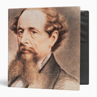 "Retrato de Charles Dickens, 1869 Carpeta 1 1/2"""