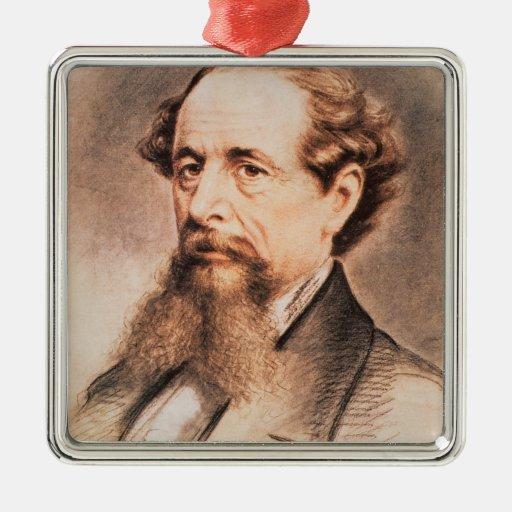 Retrato de Charles Dickens, 1869 Ornamentos De Navidad