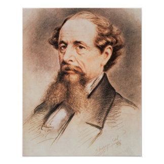Retrato de Charles Dickens, 1869 Póster