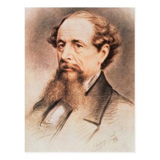 Retrato de Charles Dickens, 1869 Postal