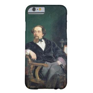 Retrato de Charles Dickens (aceite en lona) Funda De iPhone 6 Barely There